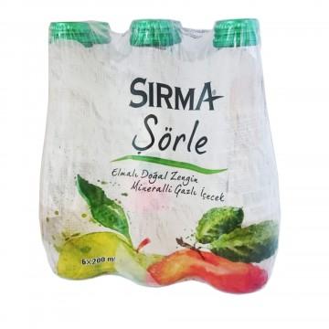 Sırma Schorle Elmalı Doğal Zengin Mineralli Gazlı İçecek 200 ml x 6 Adet