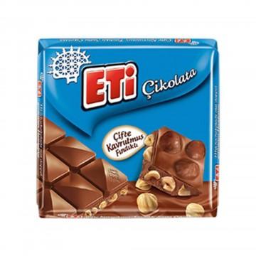 Eti Çifte Kavrulmuş Fındıklı Çikolata 75 gr