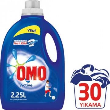 Omo Sıvı Çamaşır Deterjanı Active 30 Yıkama 2250 ml