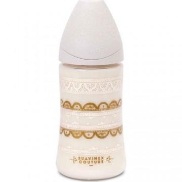 Suavinex 3162102 Couture Geniş Ağızlı Biberon 270 ml Beyaz 0-4 Ay