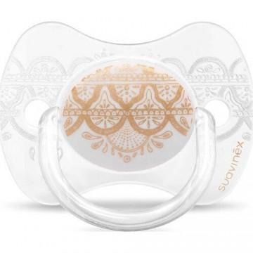 Suavinex 3162097 Couture Fiziksel Silikon Emzik 0-4 Ay Beyaz