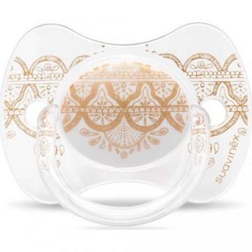 Suavinex 3162098 Couture Fiziksel Silikon Emzik 4-18 Ay Beyaz