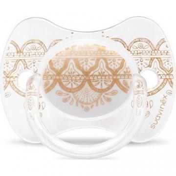 Suavinex 3162100 Couture Fiziksel Silikon Emzik 18+ Ay Beyaz