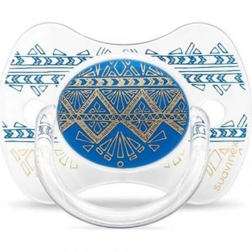 Suavinex 3162100 Couture Fiziksel Silikon Emzik 18+ Ay Mavi