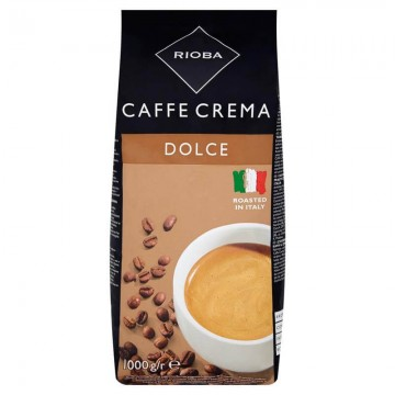Rioba Caffe Crema Dolce Çekirdek Kahve 1000 gr