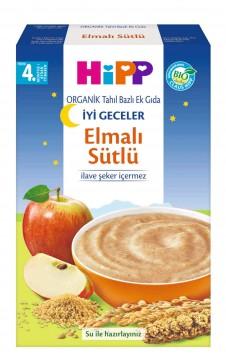 Hipp Organik İyi Geceler Elmalı Sütlü Tahıl Bazlı Ek Gıda 250 gr