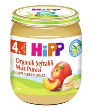 Hipp Organik Şeftali & Muz Püresi 125 gr