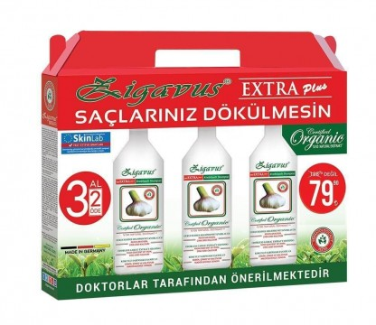 Zigavus Extra Plus Sarımsak Özlü Şampuan 250 ml x 3 Adet
