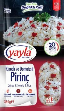 Yayla Bakliyat Sebzelim Kinoalı ve Domatesli Pirinç 360 gr