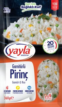 Yayla Bakliyat Sebzelim Garnitürlü Pirinç 360 gr