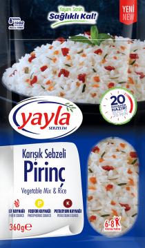 Yayla Bakliyat Sebzelim Karışık Sebzeli Pirinç 360 gr