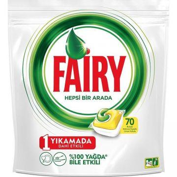 Fairy Hepsi Bir Arada Bulaşık Makinesi Kapsülü Limon 70 Adet