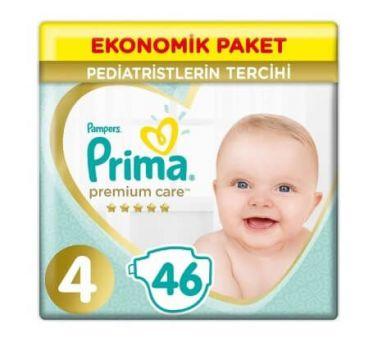 Prima Bebek Bezi Premium Care Jumbo Paket Maxi 4 Beden 46 Adet