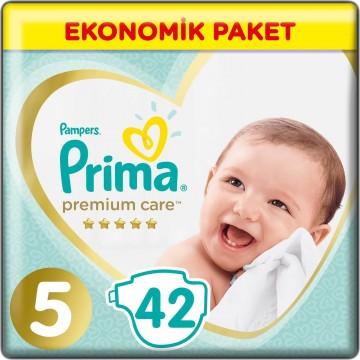 Prima Bebek Bezi Premium Care Jumbo Paket Junior 5 Beden 42 Adet
