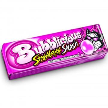 Bubblicious Çilek Aromalı Şekerli Balonlu Sakız 38 gr