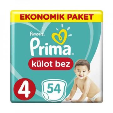 Prima Külot Bebek Bezi Ekonomik Paket 4 Beden 54 Adet