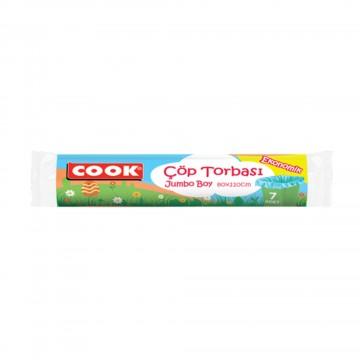 Cook Ekonomik Çöp Torbası Jumbo Boy 7 Adet 80 x 110 cm