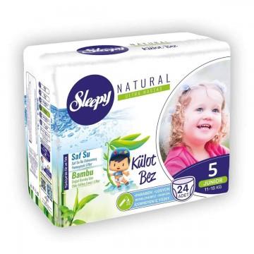Sleepy Natural Külot Bez 5 Beden Junior 24 Adet