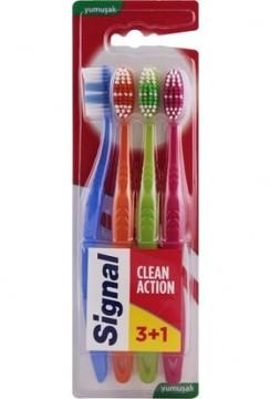 Signal Clean Action Diş Fırçası Yumuşak 3+1 Diş Fırçası