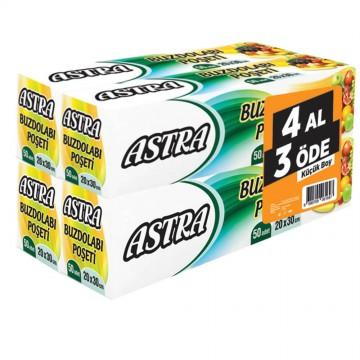Astra Buzdolabı Poşeti Küçük Boy 4 Al 3 Öde