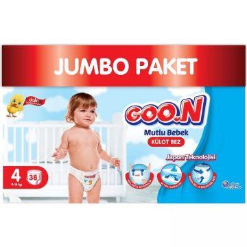 Goon Mutlu Bebek Külot Bez 4 Numara Maxi 38 Adet