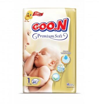 Goon Premium Soft Bebek Bezi 1 Numara 60 Adet