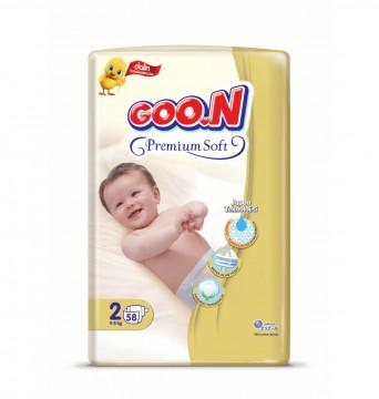 Goon Premium Soft Bebek Bezi 2 Numara 58 Adet