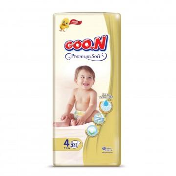 Goon Premium Soft Bebek Bezi 4 Numara 34 Adet