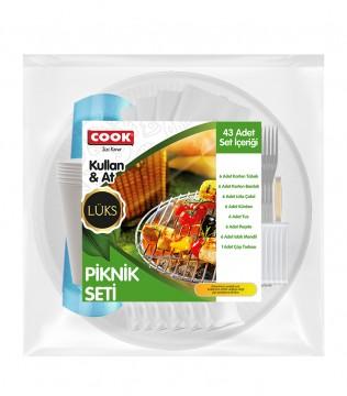 Cook Lüks Piknik Seti 43 Parça