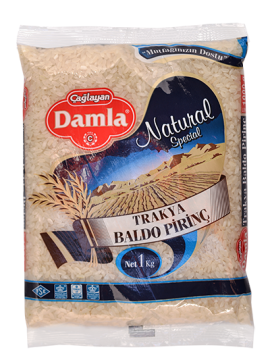 Damla Bakliyat Trakya Pirinç 1 Kg