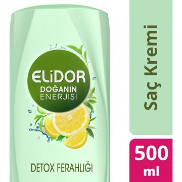 Elidor Saç Kremi Detox Ferahlığı Limon ve Yeşil Çay 500 Ml