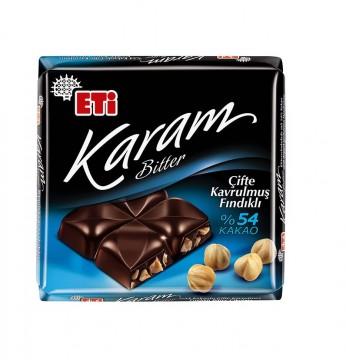 Eti Karam Bitter %54 Kakaolu Çifte Kavrulmuş Fındıklı 70 Gr