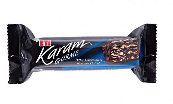 Eti Karam Gurme Bitter Çikolatalı ve Kremalı Gofret 50 Gr