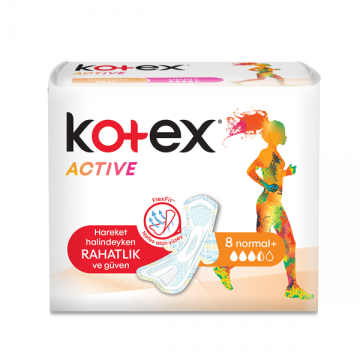 Kotex Active FlexFit Normal 8 Adet