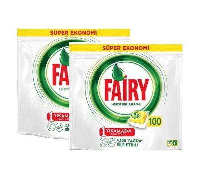 Fairy Hepsi Bir Arada Bulaşık Makinesi Kapsülü Limon 100 x 2 Adet