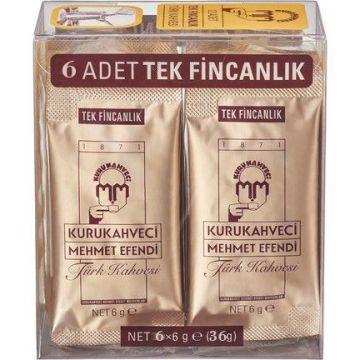 Mehmet Efendi Tek İçimlik Türk Kahvesi 6 Adet x 6 Gr