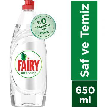 Fairy Bulaşık Deterjanı Saf ve Temiz 650 Ml