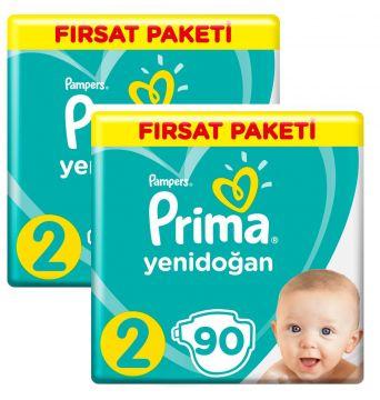 Prima Bebek Bezi Yenidoğan Aktif Bebek 2 Beden 180 Adet