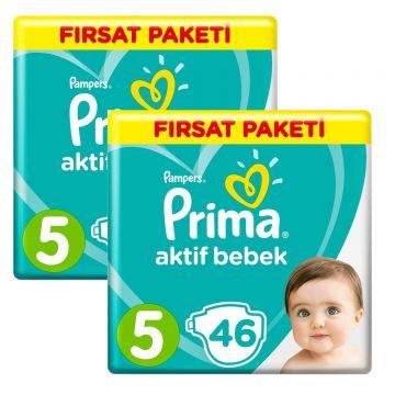 Prima Bebek Bezi Aktif Bebek 5 Beden Junior 92 Adet