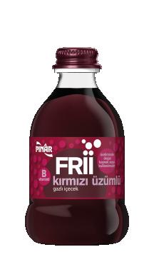 Pınar Frii Gazlı İçecek Kırmızı Üzüm Aromalı 250 Ml
