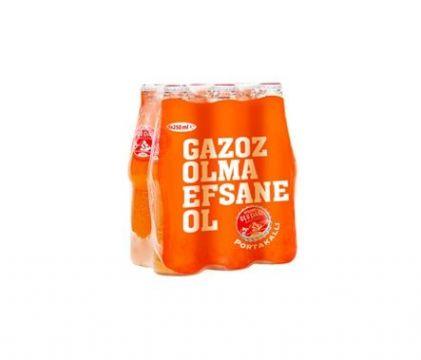 Uludağ Efsane Gazoz Portakallı 250 ml x 6 Adet