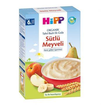 Hipp Organik Sütlü Meyveli Tahıl Bazlı Ek Gıda 250 Gr