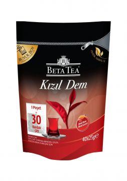 Beta Çay Kızıl Dem Demlik Poşet Çay 40 x 25 Gr