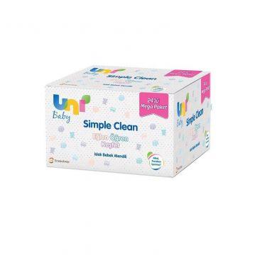 Uni Baby Simple Clean Islak Bebek Havlusu 72'Li x 24 Adet