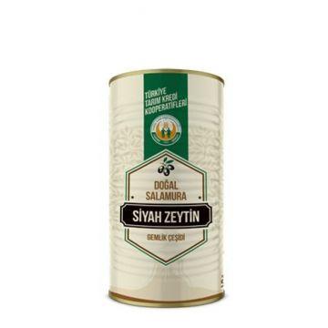 Tarım Kredi Gemlik Çeşidi Siyah Zeytin -L-  (231-260) 900 Gr