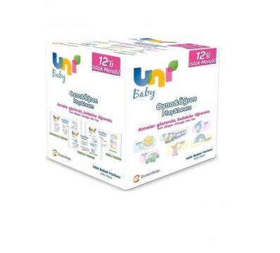 Uni Baby Oyna Öğren 12'li Paket Islak Mendil 624 Yaprak