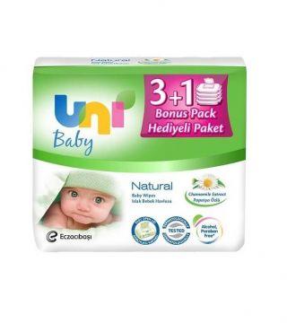 Uni Baby Natural 4 Adet Islak Havlu 56'lı