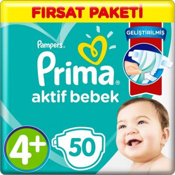 Prima Bebek Bezi Fırsat Paketi 4+ Beden 50 Adet