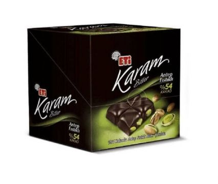 Eti Karam %54 Antep Fıstıklı Bitter Çikolata 70 Gr x 6 Adet