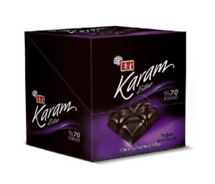 Eti Karam Bitter %70 Bitter Çikolata 70 Gr x 6 Adet